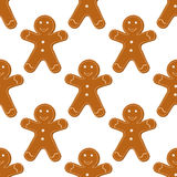 Gingerbread Cookies seamless Royalty Free Stock Photo