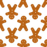 Gingerbread Cookies seamless Stock Photo