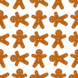 Gingerbread Cookies seamless Stock Photography