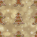 Gingerbread Cookies seamless Pattern Royalty Free Stock Image