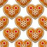 Gingerbread cookies seamless Royalty Free Stock Photography
