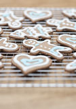Gingerbread cookies -selective focus Stock Image