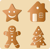 Gingerbread Cookies Set Royalty Free Stock Photo