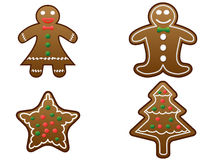 Gingerbread cookies set vector Stock Image