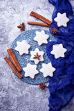 Gingerbread cookies in shape of star Stock Photography