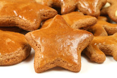 Gingerbread cookies - star Royalty Free Stock Photo
