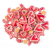 Gingerbread cookies star. On white Royalty Free Stock Image