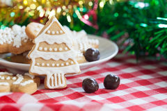 Gingerbread Cookies on Table Stock Photo