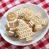 Gingerbread Cookies on Table Royalty Free Stock Image