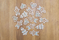Gingerbread cookies on a table Royalty Free Stock Photos