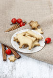 Gingerbread cookies. Traditional christmas recipe. Stock Image