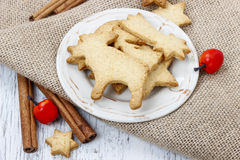 Gingerbread cookies. Traditional christmas recipe. Royalty Free Stock Image