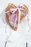 Gingerbread cookies Valentine's Day heart-shaped Stock Photo