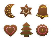 Gingerbread Cookies Variety. Vector illustration on white background Stock Photo