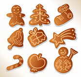 Gingerbread cookies - vector. Gingerbread cookies set- vector illustration Stock Photography