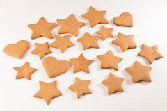 Gingerbread. Cookies on the white background Royalty Free Stock Images