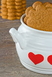 Gingerbread cookies in a white bowl Stock Image