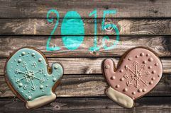 2015, gingerbread cookies Royalty Free Stock Images