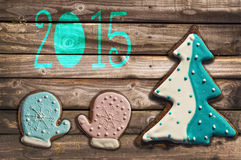 2015 gingerbread cookies Stock Images