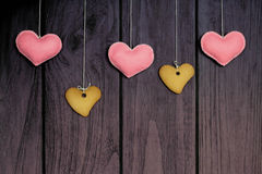 Gingerbread cookies on wooden background Stock Image