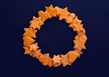 Gingerbread cookies wreath Stock Photo
