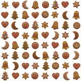 Gingerbread Cookies Xmas Pattern Royalty Free Stock Image