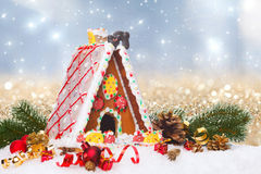 Gingerbread  cottage Stock Photo