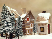 Gingerbread cottages Stock Photos