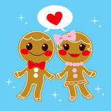 Gingerbread Couple Royalty Free Stock Images