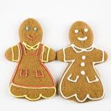 Gingerbread couple. Stock Photos