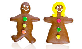 Gingerbread couple Royalty Free Stock Photography