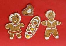 Gingerbread couple Stock Photos