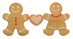Gingerbread couple Stock Photos