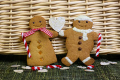 Gingerbread couple Royalty Free Stock Image
