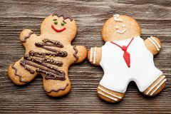 Gingerbread couple Royalty Free Stock Photo