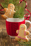 Gingerbread couple. Selective focus Royalty Free Stock Images