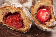 Gingerbread with cranberry filling Royalty Free Stock Photography
