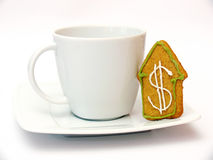 Gingerbread and cup Royalty Free Stock Photos