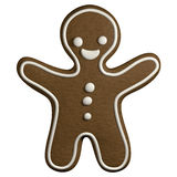 Gingerbread 3D cartoon christmas man shape cookie Royalty Free Stock Photography