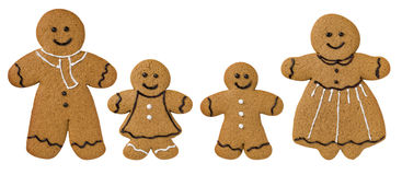 Gingerbread  decorated with icing and chocolate Royalty Free Stock Photography