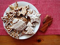 Gingerbread decorated Royalty Free Stock Images