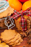 Gingerbread decoration on a christmas table Stock Photo