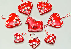 Gingerbread decorations Stock Images