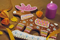 Gingerbread deer Stock Images