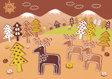 Gingerbread deers Royalty Free Stock Image