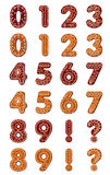 Gingerbread digits Stock Photo