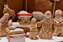 Gingerbread display Stock Photo