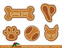 Gingerbread Dog Treats vector illustration