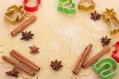 Gingerbread dough for christmas cookies Stock Image
