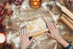 Gingerbread dough for christmas cookies Stock Photography